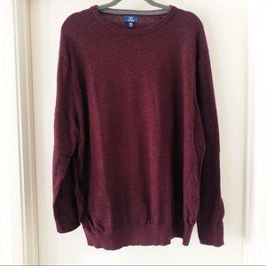 george | burgundy pullover sweater, XXL